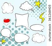 comics style. set of empty... | Shutterstock .eps vector #361268405