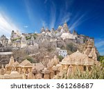 jain temples  mount shatrunjaya ... | Shutterstock . vector #361268687