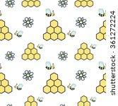 cute cartoon seamless vector... | Shutterstock .eps vector #361272224