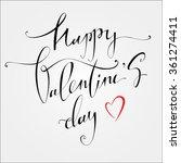 happy valentines day vintage... | Shutterstock . vector #361274411