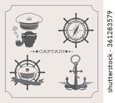 captains icons set  | Shutterstock .eps vector #361283579