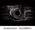 dark black light abstract... | Shutterstock .eps vector #361288811