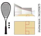 squash court   racket