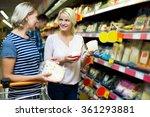 female blondie helping mature... | Shutterstock . vector #361293881