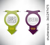 set vector tag big sale paper... | Shutterstock .eps vector #361297475