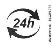 24 hours    vector icon | Shutterstock .eps vector #361298774