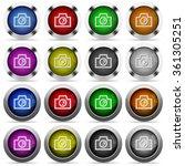 set of camera glossy web...