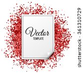 Red Glitter Texture. Clean...