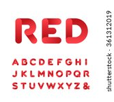 Rounded Font. Vector Alphabet...