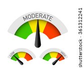low  moderate and high gauges.... | Shutterstock .eps vector #361312241