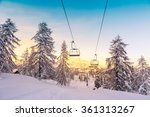 winter mountains panorama with...   Shutterstock . vector #361313267