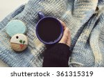 woman's hands holding cup of... | Shutterstock . vector #361315319