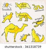 abstract line and dot desert... | Shutterstock .eps vector #361318739