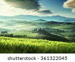 early spring morning in tuscany ... | Shutterstock . vector #361322045