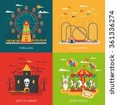 funfair design concept set with ... | Shutterstock .eps vector #361336274