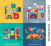 fuel station concept icons set ... | Shutterstock .eps vector #361336451
