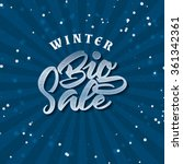 big sale winter insignia  and... | Shutterstock .eps vector #361342361
