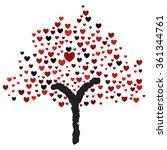 love tree on white background ... | Shutterstock .eps vector #361344761