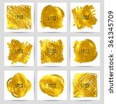set of gold banners. 10 eps.... | Shutterstock .eps vector #361345709