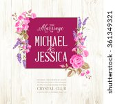 marriage invitation card. | Shutterstock .eps vector #361349321