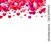 valentines day background with... | Shutterstock .eps vector #361349441