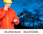 asian engineers worker thinking ... | Shutterstock . vector #361352681