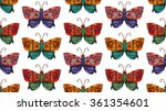 fantastic butterfly  seamless... | Shutterstock .eps vector #361354601