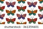fantastic butterfly  seamless... | Shutterstock .eps vector #361354601