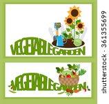 banner a vegetable garden... | Shutterstock .eps vector #361355699