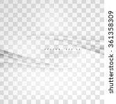 transparent background curve.... | Shutterstock .eps vector #361358309