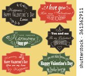 set of love inscriptions on... | Shutterstock .eps vector #361362911