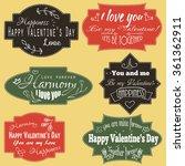 set of love inscriptions on... | Shutterstock .eps vector #361362911