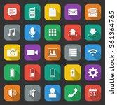 mobile app icon set 6 | Shutterstock .eps vector #361364765