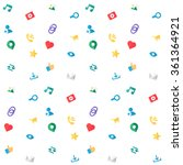web icons seamless pattern for...