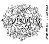 cartoon vector hand drawn... | Shutterstock .eps vector #361365065
