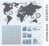 vector infographics set  ring...   Shutterstock .eps vector #361365131