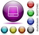 set of color hard disk glass...