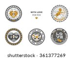 set of love stamps. perfect for ... | Shutterstock .eps vector #361377269
