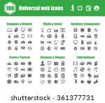 100 universal vector icons  ... | Shutterstock .eps vector #361377731