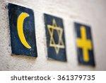 set of 3 religious symbols ... | Shutterstock . vector #361379735