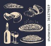 italian cuisine signs. hand... | Shutterstock .eps vector #361379819