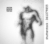 man torso. graphic drawing with ... | Shutterstock .eps vector #361379855