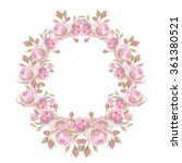 watercolor wreath. it can be... | Shutterstock . vector #361380521