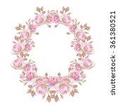 watercolor wreath. it can be...   Shutterstock . vector #361380521