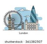 london city skyline background. ... | Shutterstock .eps vector #361382507