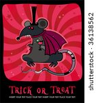 halloween card with vampire rat.... | Shutterstock .eps vector #36138562