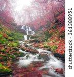 famous alpine beautiful... | Shutterstock . vector #361388951