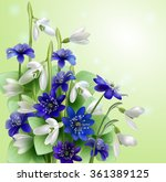bouquet of snowdrops  spring... | Shutterstock .eps vector #361389125