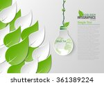 abstract ecology connection... | Shutterstock .eps vector #361389224