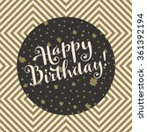 happy birthday  trendy artistic ... | Shutterstock .eps vector #361392194
